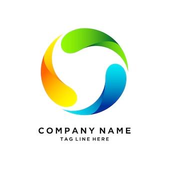 Rotazione del design del logo 3d