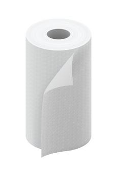 Rotolo di asciugamani da cucina in carta bianca
