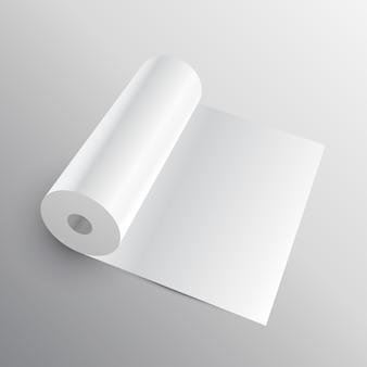 Rotolo di carta 3d o mockup di tessuto
