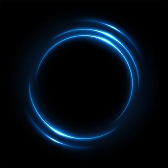 Rotonda luce blu ritorta