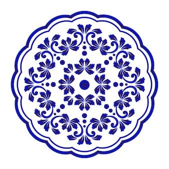 Rotondo decorativo floreale
