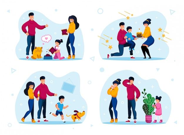 Routine e attività di vita dei genitori felici
