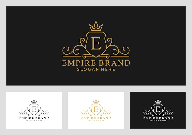 Royal, impero, regno logo design vettoriale