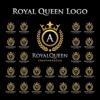 Royal queen logo in set alfabetico
