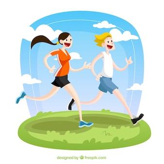 Runners illustrazione