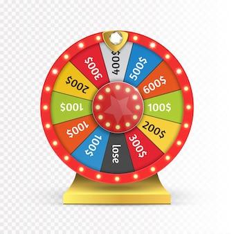 Ruota colorata di fortuna o fortuna infografica.