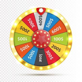 Ruota colorata di fortuna o fortuna