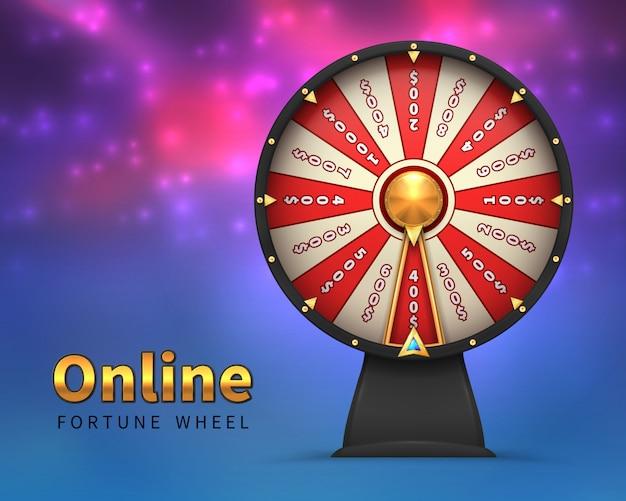 Ruota della fortuna. gioco a rischio di denaro fortunato. ruote della fortuna di filatura casinò lotteria gioco d'azzardo