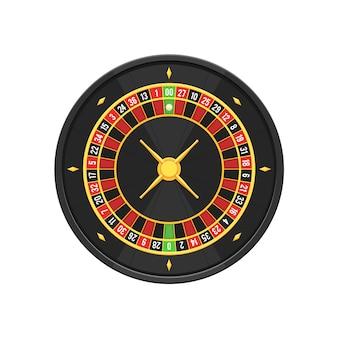 Ruota della roulette americana del casinò