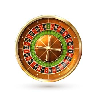 Ruota della roulette isolata