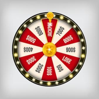 Ruota di posta del casinò di filatura di gioco di fortuna 3d.