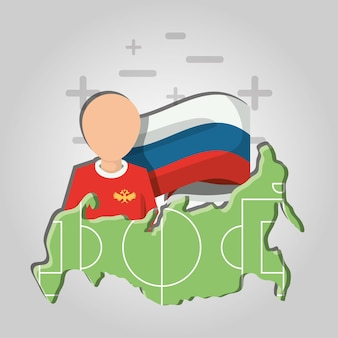 Russia soccer world cup design