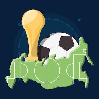 Russia soccer world cup design