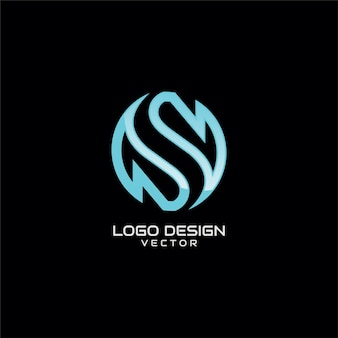 S astratto logo template vector astratto
