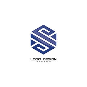 S letter geometry logo design