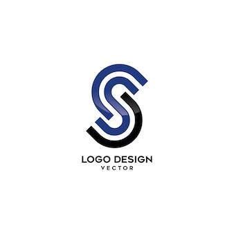 S lettera logo design lineare