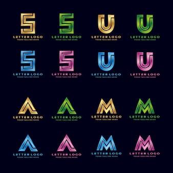 S, u, a, m, lettera di lusso logo