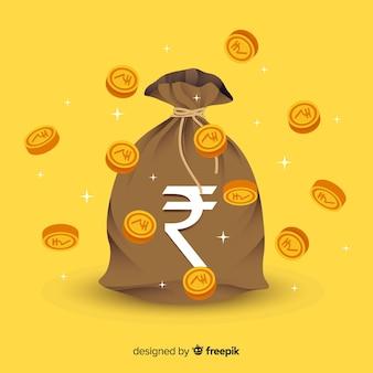 Sacchetto dei soldi della rupia indiana