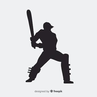Sagoma del giocatore di cricket
