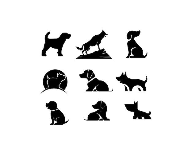 Sagoma nera di un cane