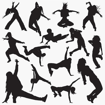Sagome di donne street dance
