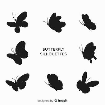 Sagome di farfalle volanti