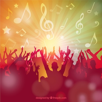 Sagome di festa della musica