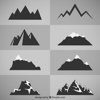 Sagome di montagna
