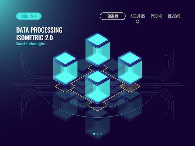 Sala server, archiviazione cloud dati, tecnologia digitale, concetto di connessione internet