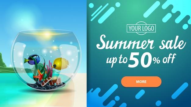 Saldi estivi, banner web di sconto per il tuo sito web