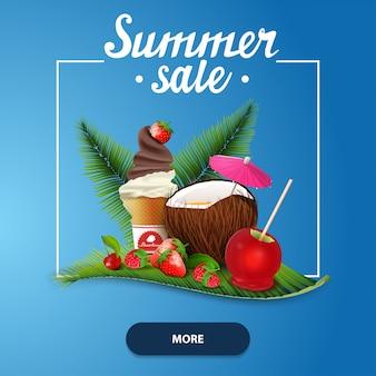 Saldi estivi, banner web quadrati per il tuo sito web