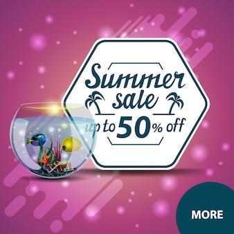 Saldi estivi, banner web quadrati scontati per il tuo sito web