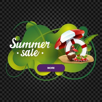 Saldi estivi, banner web sconto sotto forma di lampada lava