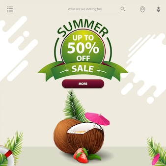 Saldi estivi, un modello per il tuo sito web in uno stile minimalista