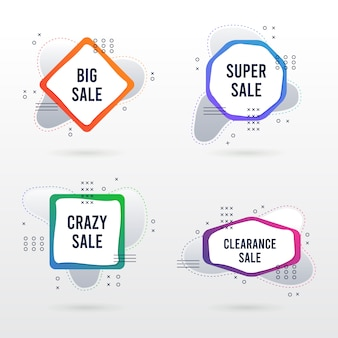 Sale banner abstract collection