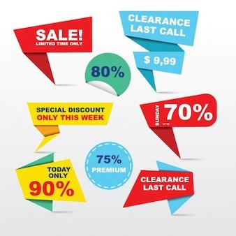 Sale labels collezione