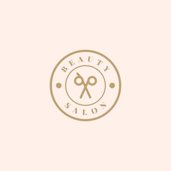 Salone di bellezza logo design vettoriale