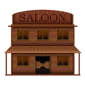 Saloon di costruzione in stili occidentali