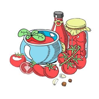 Salsa biologica di pomodori