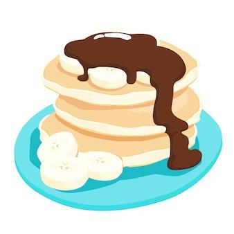 Salsa di cioccolato con pancake alla banana
