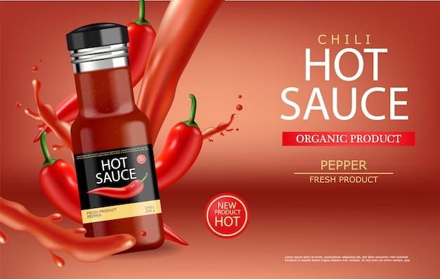 Salsa di peperoncino piccante con splash