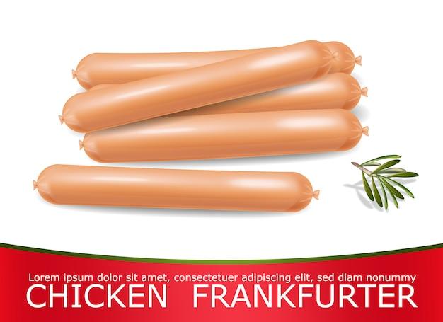 Salsiccia di pollo realistica