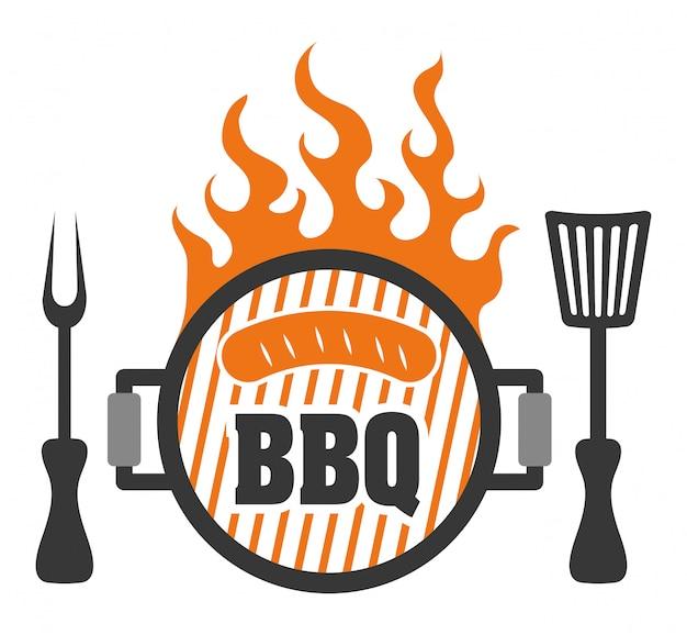 Salumi freschi e deliziosi con barbecue.
