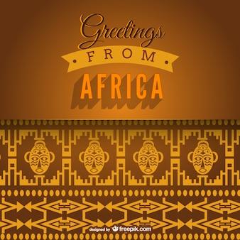 Saluti da africa vettore