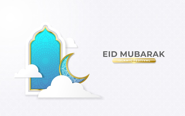 Saluti eid blu e oro mubarak