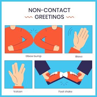 Saluti senza contatto