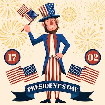 Saluto del giorno del presidente dei fuochi d'artificio