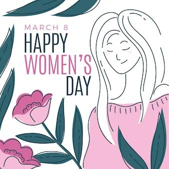 Saluto di giorno floreale colorato delle donne