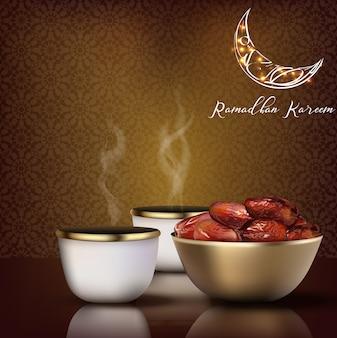 Saluto di ramadhan kareem. celebrazione iftar