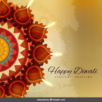 Saluto diwali con ornamenti